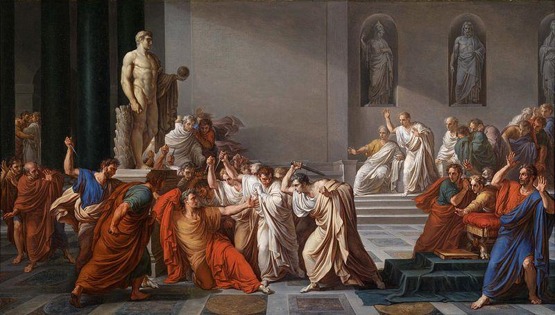La mort de César Vincenzo Camuccini