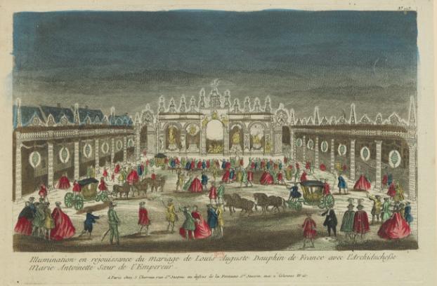 Illuminations mariage marie antoinette louis XVI