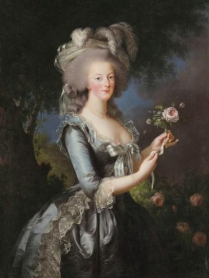 Marie Antoinette à la Rose portrait