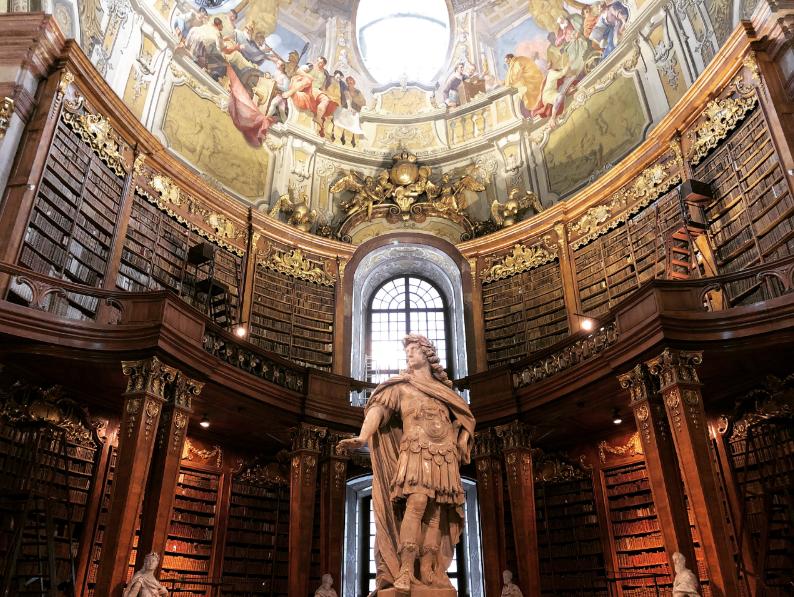 bibliothèque nationale d'autriche intérieur