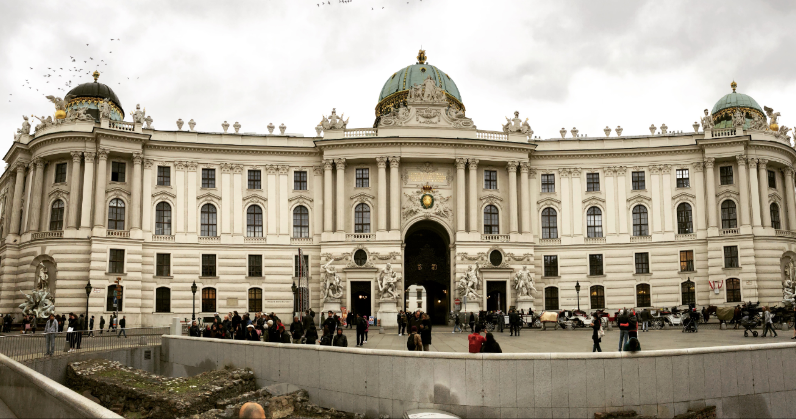 hofburg à vienne entrée du musée
