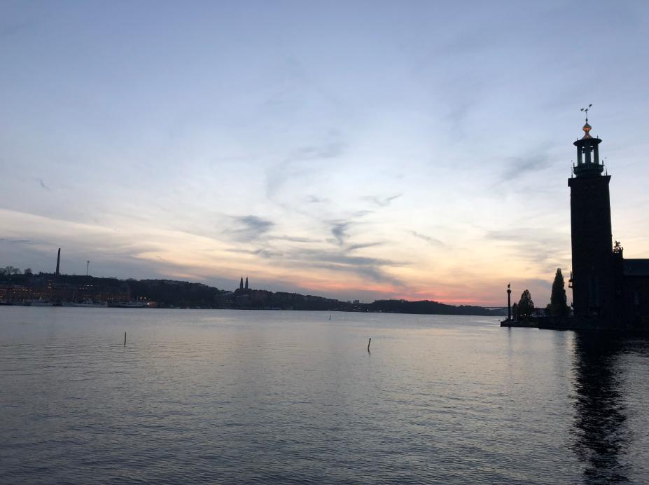 hotel de ville stockholm coucher de soleil