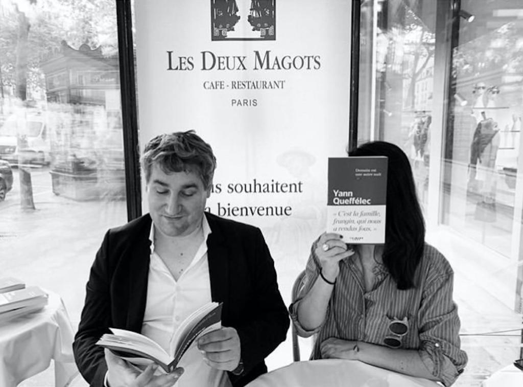 Baptiste Liger et Un Livre Un Café aux Deux Magots