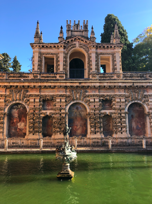 Real Alcazar Seville Façade Fontaine