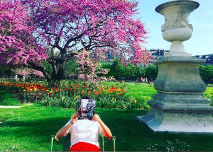 Paris Ronis tuileries en fleurs
