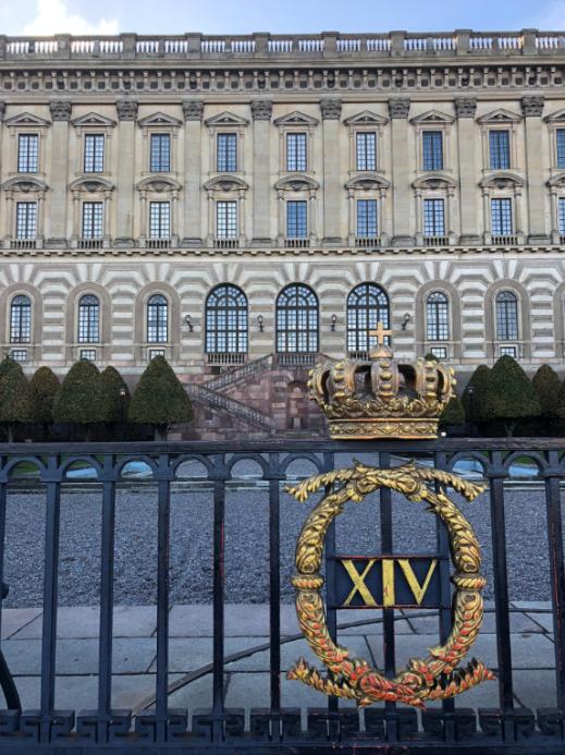 vue derriere du palais royal Kungliga Slottet