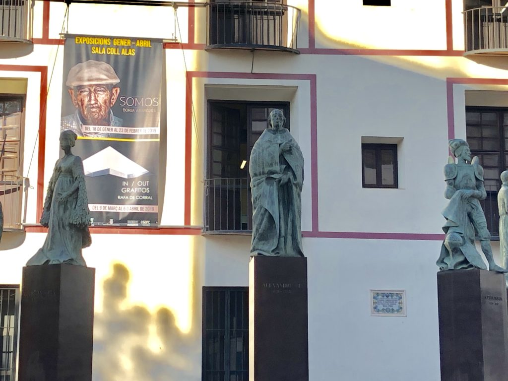 famille borgia statues gandia