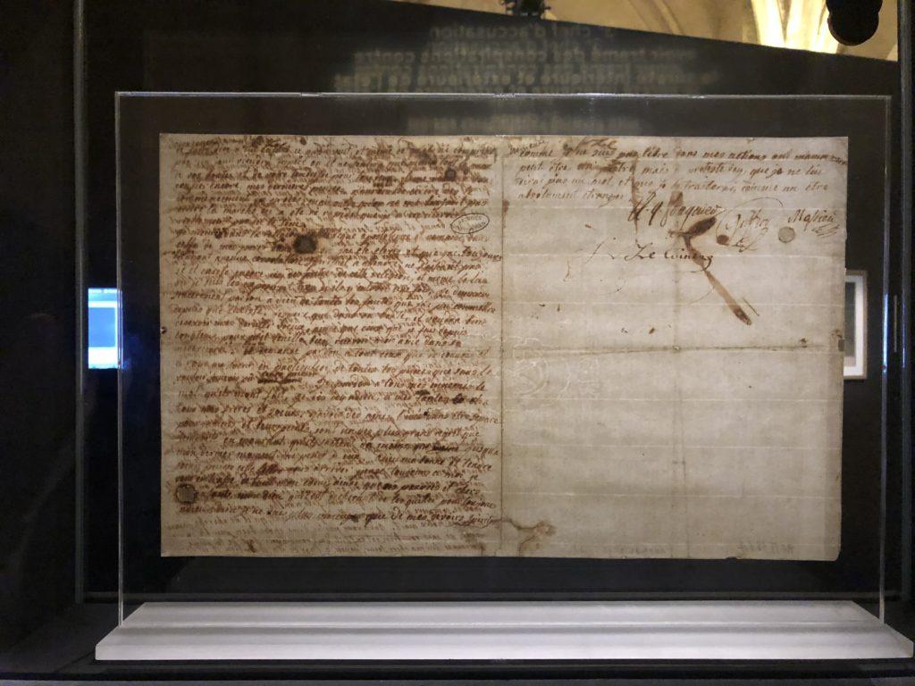 Lettre-Marie-Antoinette-à-Elisabeth-Testament