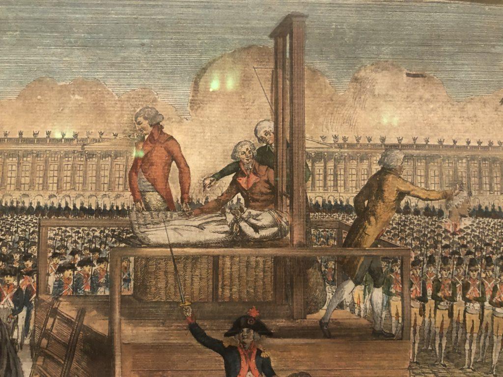 Estampe Exécution de Marie-Antoinette